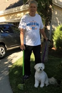 Dennis Woodard with Max and the GoGo Stik