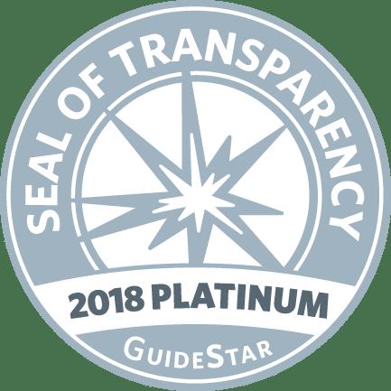 GuideStar 2018 Platinum Seal