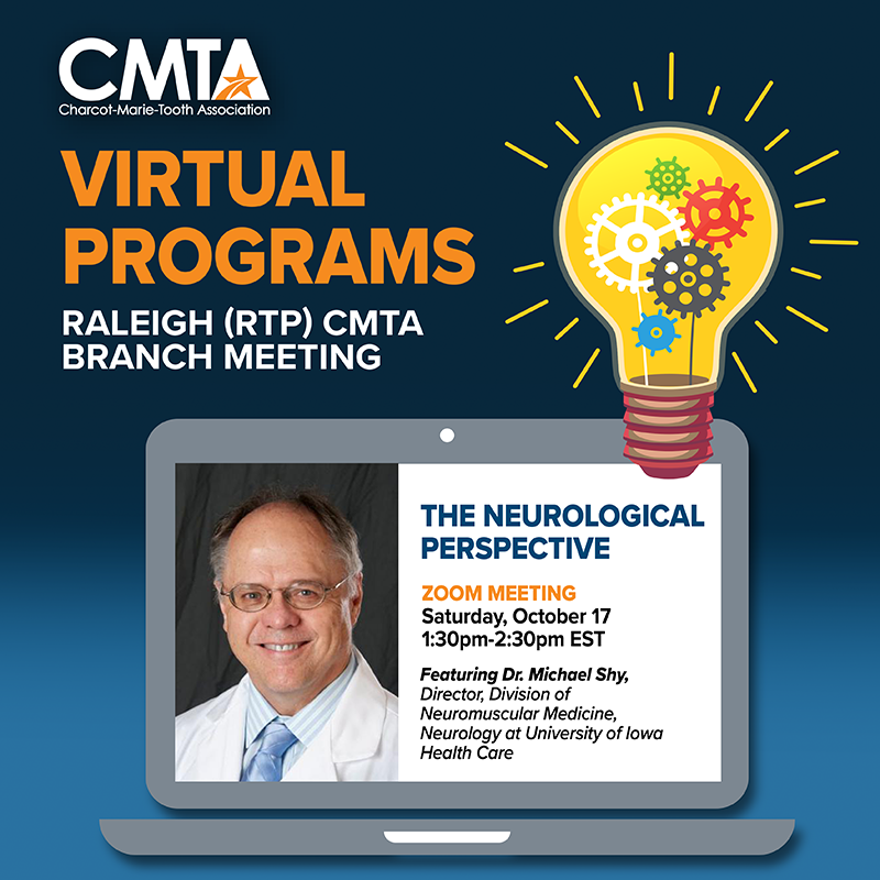 Raleigh (RTP) CMTA Branch Meeting (Virtual) with Special Guest, Dr. Shy