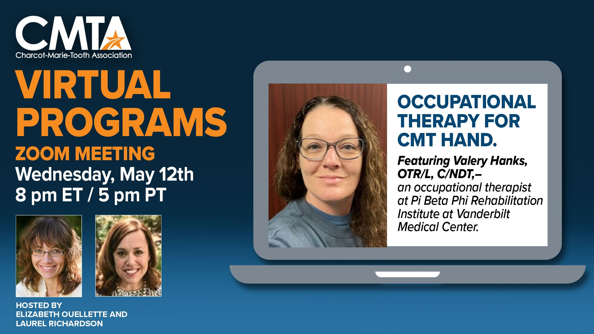 CMTA Education Meeting: Occupational Therapy for CMT (Virtual)