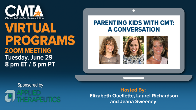 Monthly Education: Parenting Kids with CMT - A Conversation (Virtual)