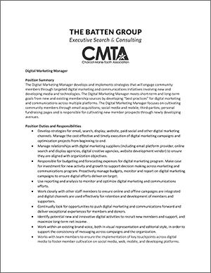 CMTA Digital Marketing Manager